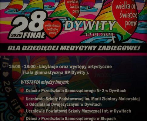 28 Finał Wielkiej Orkiestry Świątecznej Pomocy w Dywitach